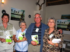 Ralie, ..., Koos and Marie won the first prize of the competition
